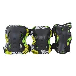 Ochraniacze dzieci�ce na nadgarstki, �okcie, kolana FID KIDS BLACK Tempish