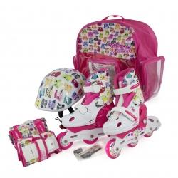 Rolki, wrotki dziecięce, 2w1, regulowane + ochraniacze + kask BABY SKATE OWL