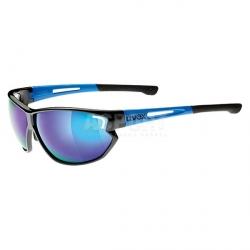 Okulary sportowe, lustrzanki SPORTSTYLE 810  niebiesko-czarne Uvex