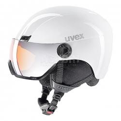 Kask narciarski, snowboardowy, z wizjerem w zestawie HLMT 400 VISOR biały Uvex