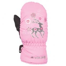 Rękawice dziecięce, dla dziewczynki, z jednym palcem FAWN MITTEN Viking