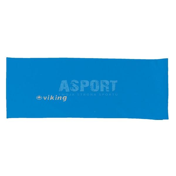 Opaska na głowę do biegania, ćwiczeń, elastyczna niebieska Viking
