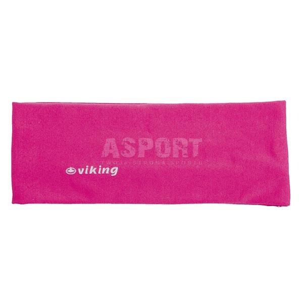 Opaska na głowę do biegania, ćwiczeń, elastyczna różowa Viking