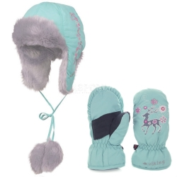 Komplet dzieci�cy, dla dziewczynki: r�kawiczki FAWN MITTEN + czapka LORETTA
