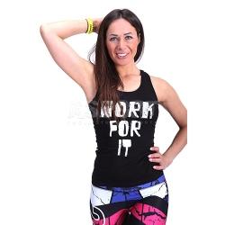 Koszulka, bokserka, top, damska WORK FOR IT 2skin