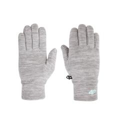 Rękawiczki dziecięce polarowe JRED001 szare 4F