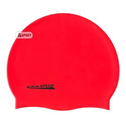 Czepek pływacki, silikonowy MEGA czerwony Aqua-Speed