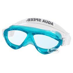 Gogle do pływania dziecięce CURRENT JR niebieskie Aqua-Speed