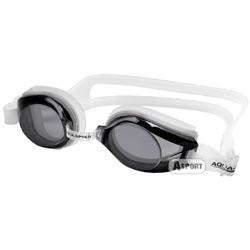 Okulary pływackie, młodzieżowe AVANTI biało-czarne Aqua-Speed