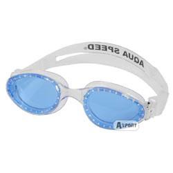 Okulary pływackie dziecięce MYSTIC JR biało-niebieskie  Aqua-Spe