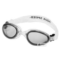 Okulary pływackie dziecięce SONIC JR biało-szare Aqua-Speed