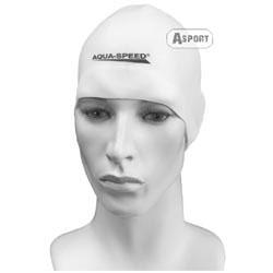 Czepek pływacki, silikonowy RACER biały Aqua-Speed