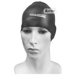 Czepek pływacki, silikonowy RACER czarny Aqua-Speed