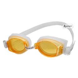 Okulary pływackie, uniwersalne ASTI biało-pomarańczowe Aqua-Speed
