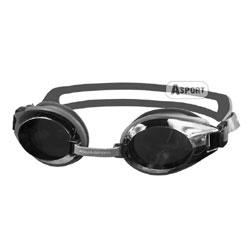 Okulary pływackie lustrzanki CHALLENGE srebrne Aqua-Speed