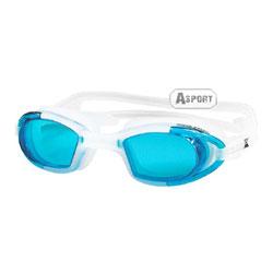 Okulary pływackie MAREA biało-niebieskie Aqua-Speed