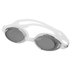 Okulary pływackie MALIBU biało-szare Aqua-Speed