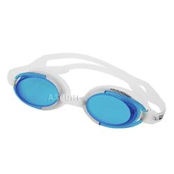 Okulary pływackie MALIBU biało-niebieskie Aqua-Speed