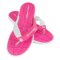 Klapki damskie, na basen, na plażę BALI różowy / biały Aqua-Speed