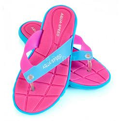 Klapki damskie, na basen, na plażę BALI różowy / niebieski Aqua-Speed