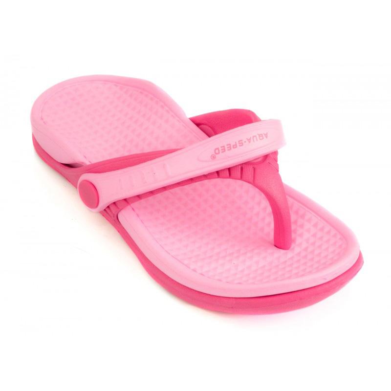 Kinder Badeschuhe Badelatschen Flip-Flops ROMA Aqua-Speed