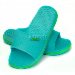 Dziecięce, młodzieżowe klapki basenowe CORDOBA turkus Aqua-Speed