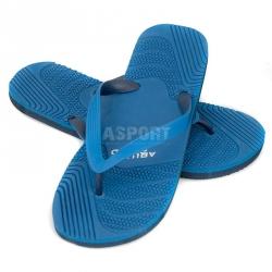 Klapki męskie, japonki, na basen, na plażę PALERMO niebieskie Aqua-Speed