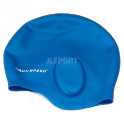 Czepek pływacki, silikonowy, z kieszeniami na uszy EAR CAP Aqua-Speed