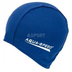 Czepek pływacki z poliestru POLYESTER CAP granatowy Aqua-Speed