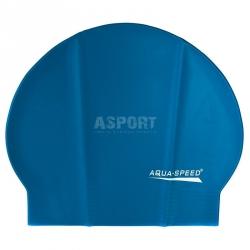 Czepek pływacki z lateksu SOFT LATEX niebieski Aqua-Speed