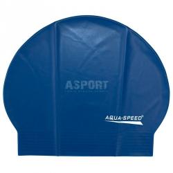 Czepek pływacki z lateksu SOFT LATEX granatowy Aqua-Speed