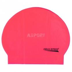 Czepek pływacki z lateksu SOFT LATEX różowy Aqua-Speed