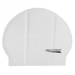 Czepek pływacki z lateksu SOFT LATEX biały Aqua-Speed