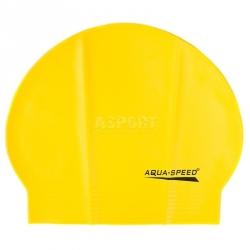 Czepek pływacki z lateksu SOFT LATEX żółty Aqua-Speed