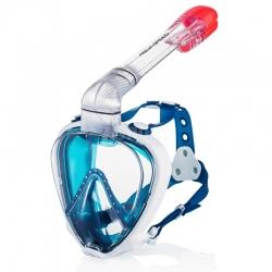 Maska nurkowa pełnotwarzowa, z fajką, do snorkelingu PRISM Aqua-Speed