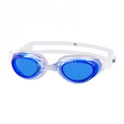 Okulary pływackie dziecięce AGILA JR biało-niebieskie Aqua-Speed