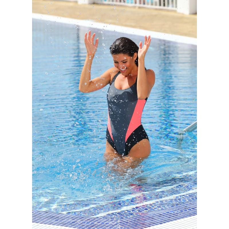 Badeanzug Damen Schwimmanzug einteiliger SONIA Aqua-Speed 4 farben