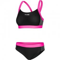 Kostium pływacki Strój kąpielowy NAOMI 139 czarno-różowy Aquaspeed