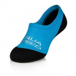 Skarpetki dziecięce na basen, plażę NEO niebiesko-czarne Aqua Speed