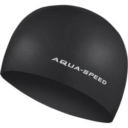 Czepek pływacki z silikonu 3D CAP czarny Aqua-Speed