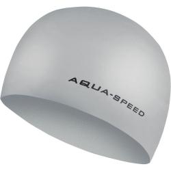 Czepek pływacki z silikonu 3D CAP srebrny Aqua-Speed