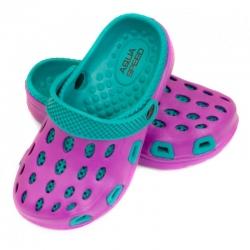 Klapki basenowe dziecięce na plażę, chodaki SILVI 24-29 fioletowe Aqua-Speed