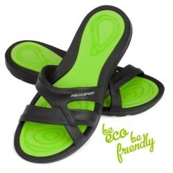 Klapki basenowe damskie PANAMA czarno-zielone Aqua-Speed