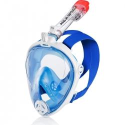 Maska do nurkowania pełnotwarzowa SPECTRA 2.0 biało-niebieska