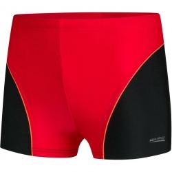 Spodenki pływackie chłopięce LEO czerwone Aquaspeed