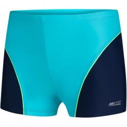 Spodenki pływackie chłopięce LEO niebieskie Aquaspeed