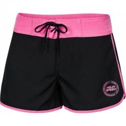 Szorty damskie kąpielowe VIKI czarno-różowe Aqua Speed
