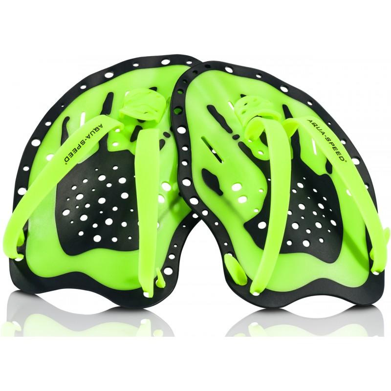 Handpaddels Hand-Paddel Schwimmpaddles Trainingsgerät AQUA-SPEED