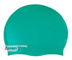 Czepek dziecięcy, pływacki z silikonu MONO zielony Aqua-Speed