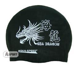 Czepek z silikonu DRAGON czarny AquaSpeed
